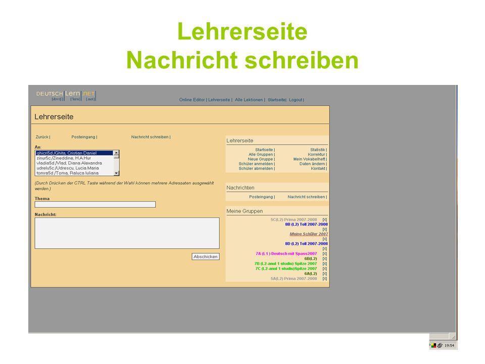 DEUTSCHLERN.NET bietet Lehrern die Möglichkeit eigene Online Aufgaben einzugeben.