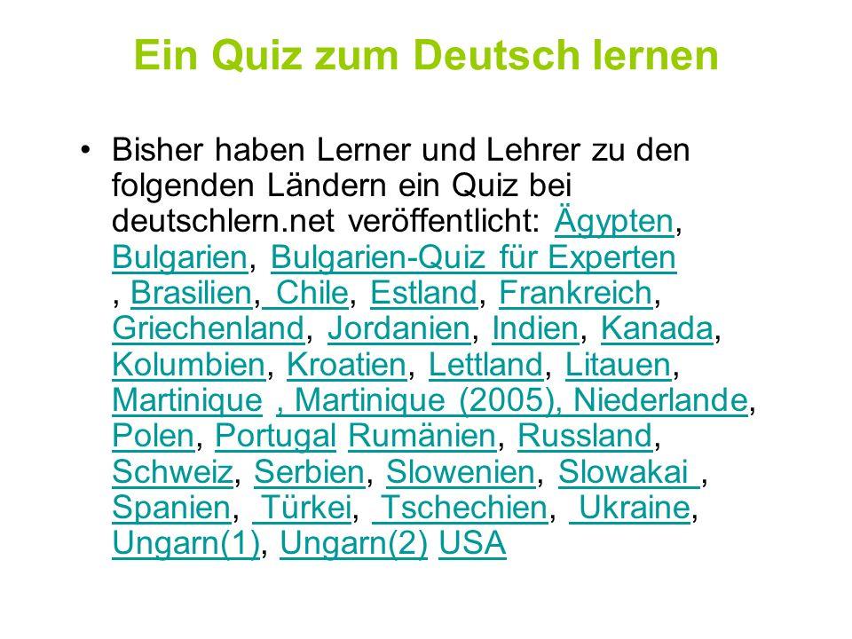 Deutsch als Fremdsprache - Länderquiz