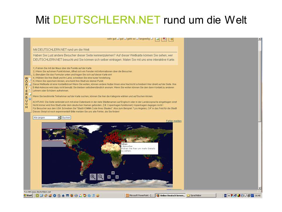 Mit DEUTSCHLERN.NET rund um die Welt