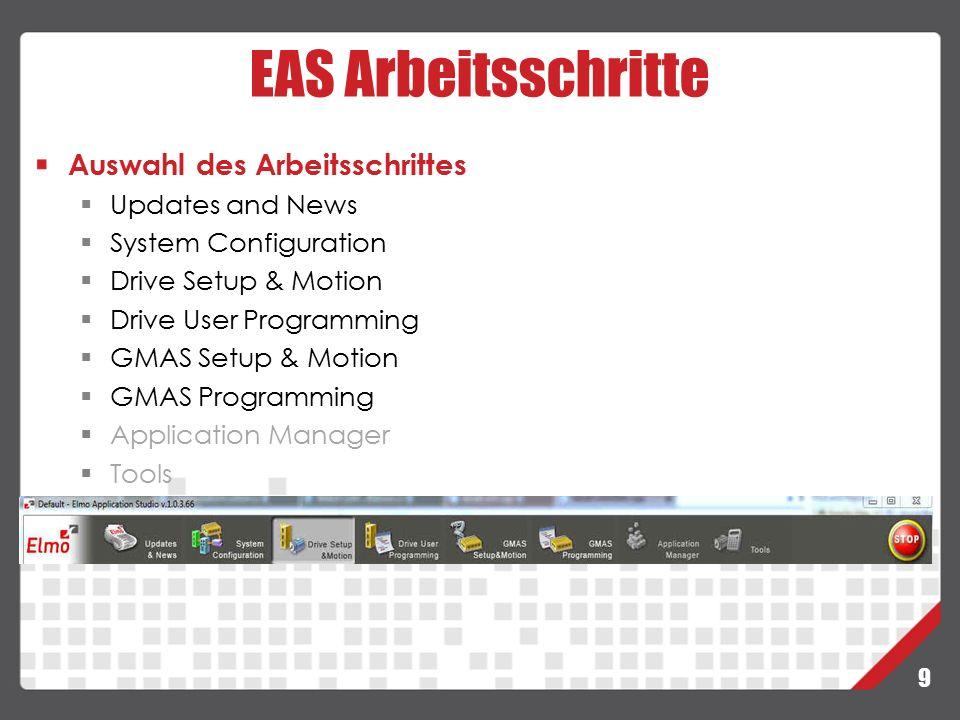 30 GMAS – Script Manager Navigation Zweck:  Bis zu 8 Achsen oder Gruppen können zur Beobachtung ausgewählt werden.