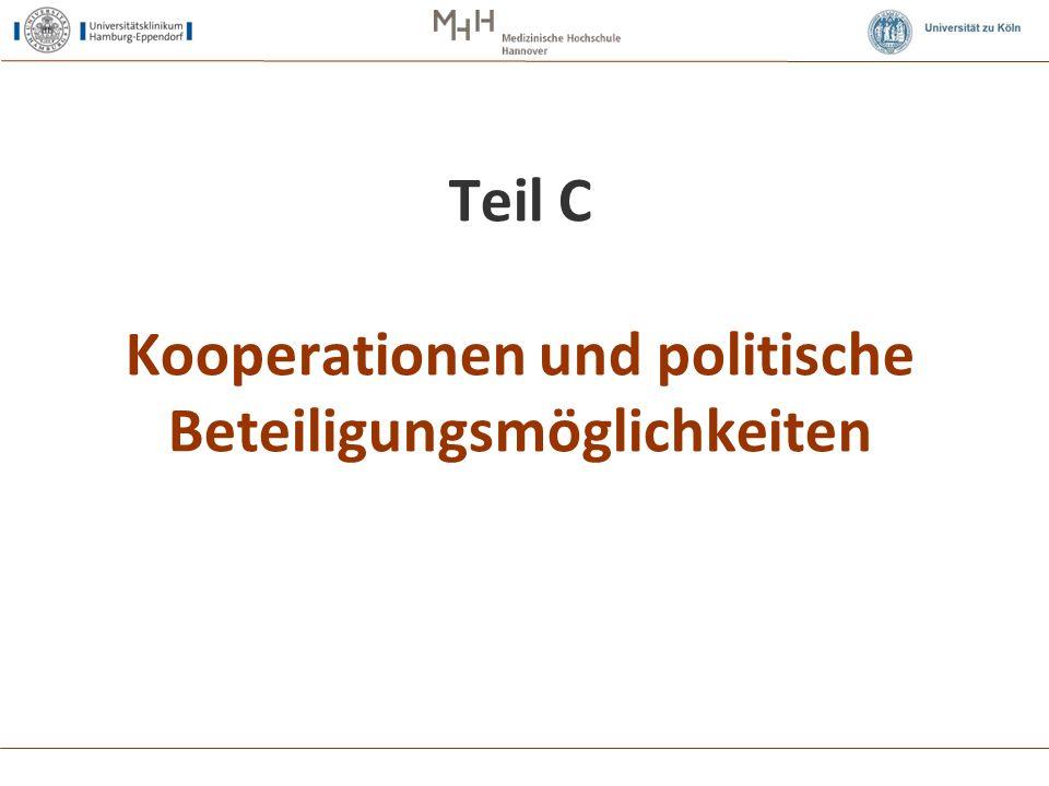 Teil C Kooperationen und politische Beteiligungsmöglichkeiten