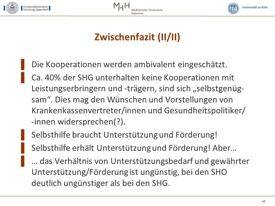 Zwischenfazit (II/II) ▌ Die Kooperationen werden ambivalent eingeschätzt.