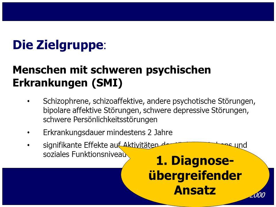 Menschen mit schweren psychischen Erkrankungen (SMI) Schizophrene, schizoaffektive, andere psychotische Störungen, bipolare affektive Störungen, schwe
