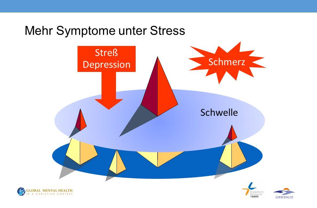 Mehr Symptome unter Stress Schmerz Schwelle Streß Depression