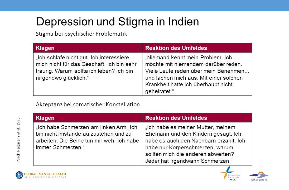 """Depression und Stigma in Indien KlagenReaktion des Umfeldes """"Ich habe Schmerzen am linken Arm."""