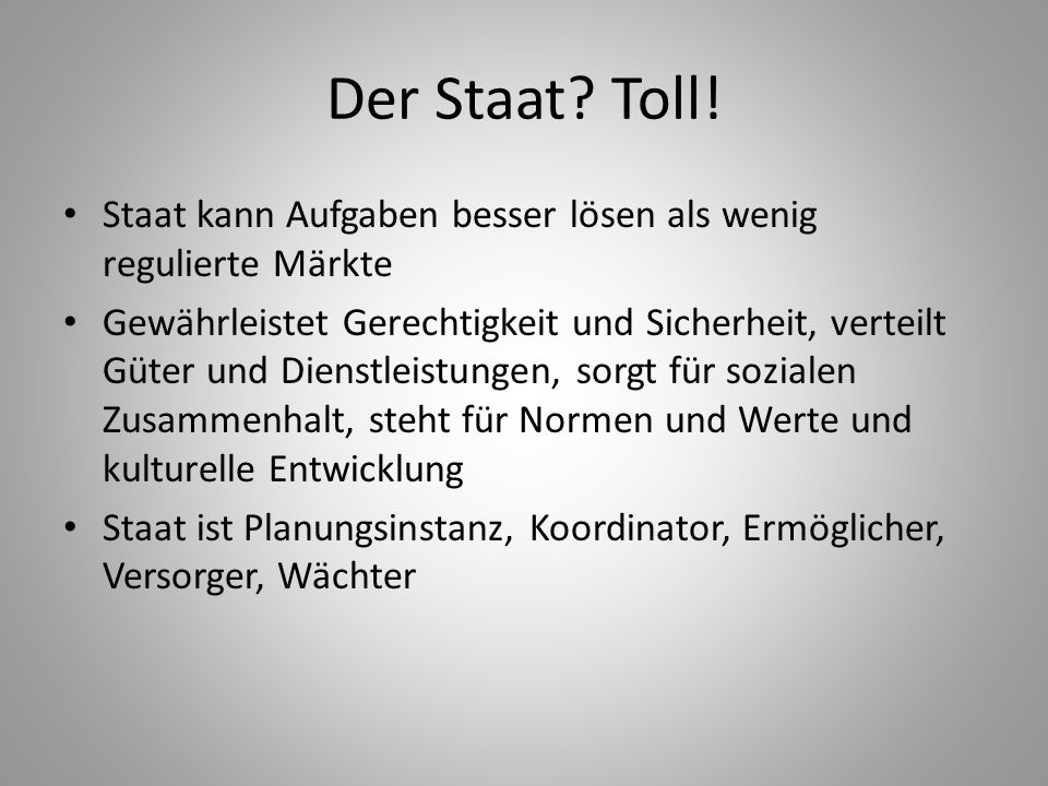 Der Staat.Toll.