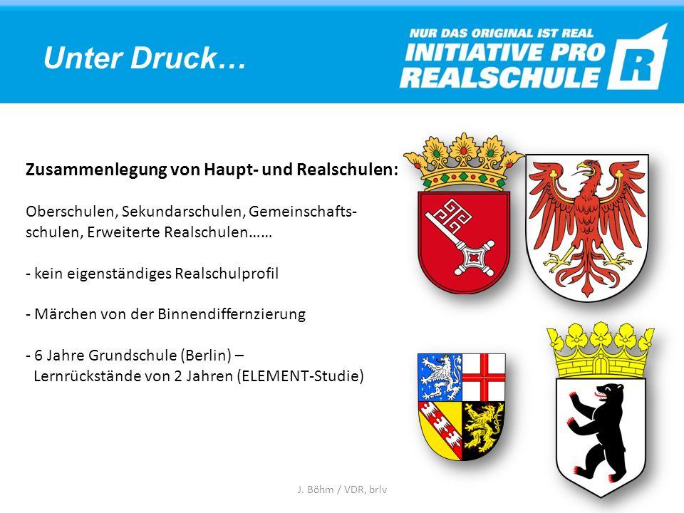 Übertrittsquoten 2013/2014: Realschule: 30,3 % Gymnasium: 40,5 % J. Böhm / VDR, brlv