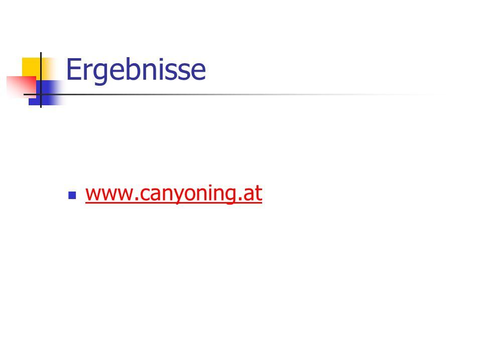 Ergebnisse www.canyoning.at