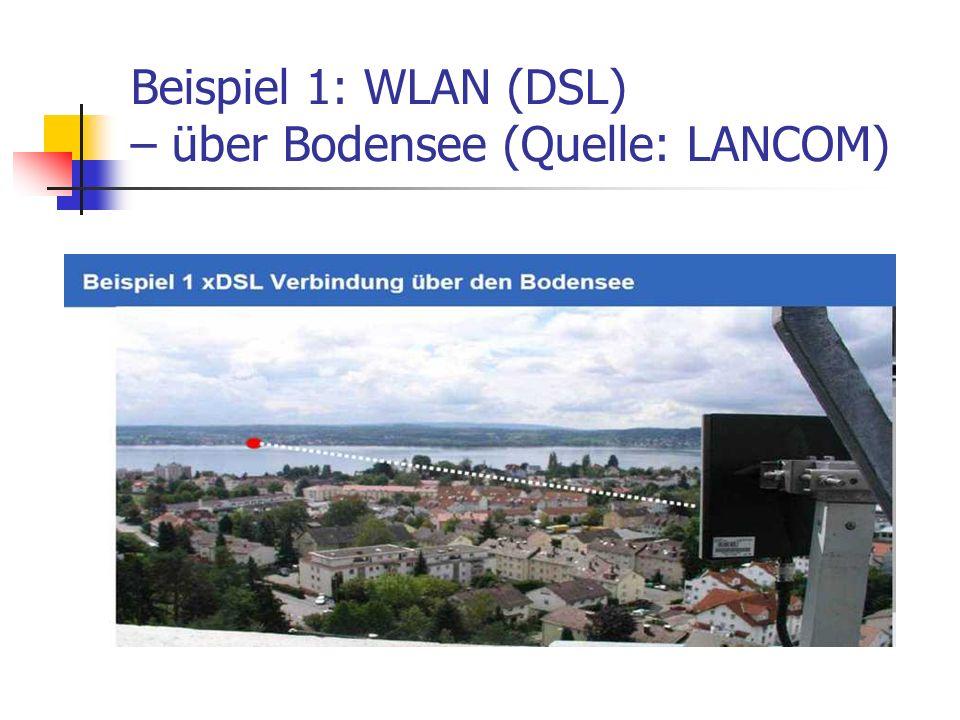 Beispiel 1: WLAN (DSL) – über Bodensee (Quelle: LANCOM)