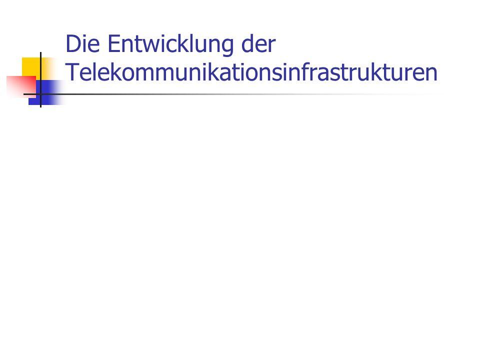 Die Entwicklung der Telekommunikationsinfrastrukturen