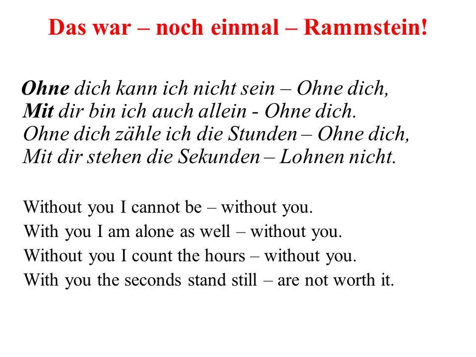 Rammstein – Ohne dich