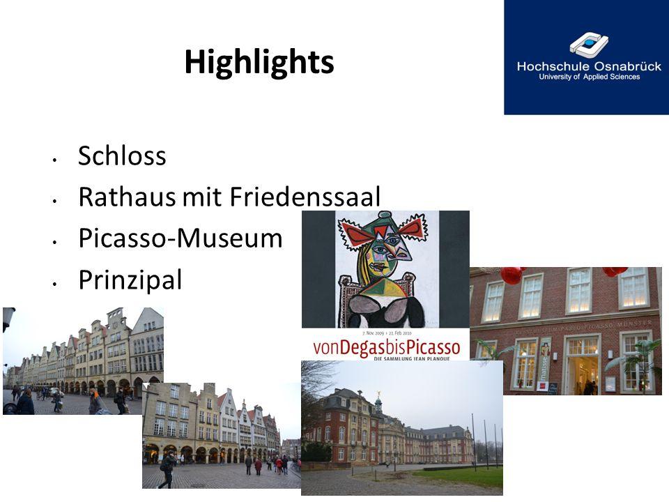 Schloss Rathaus mit Friedenssaal Picasso-Museum Prinzipal Highlights