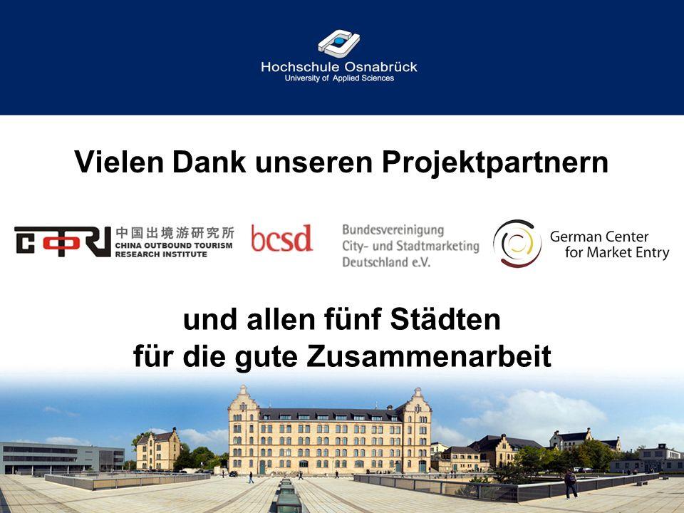 Vielen Dank unseren Projektpartnern und allen fünf Städten für die gute Zusammenarbeit