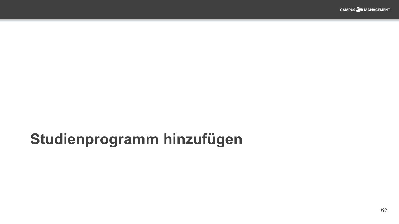 66 Studienprogramm hinzufügen