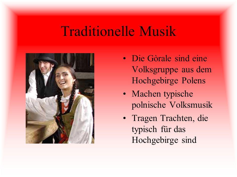 Traditionelle Musik Die Gòrale sind eine Volksgruppe aus dem Hochgebirge Polens Machen typische polnische Volksmusik Tragen Trachten, die typisch für