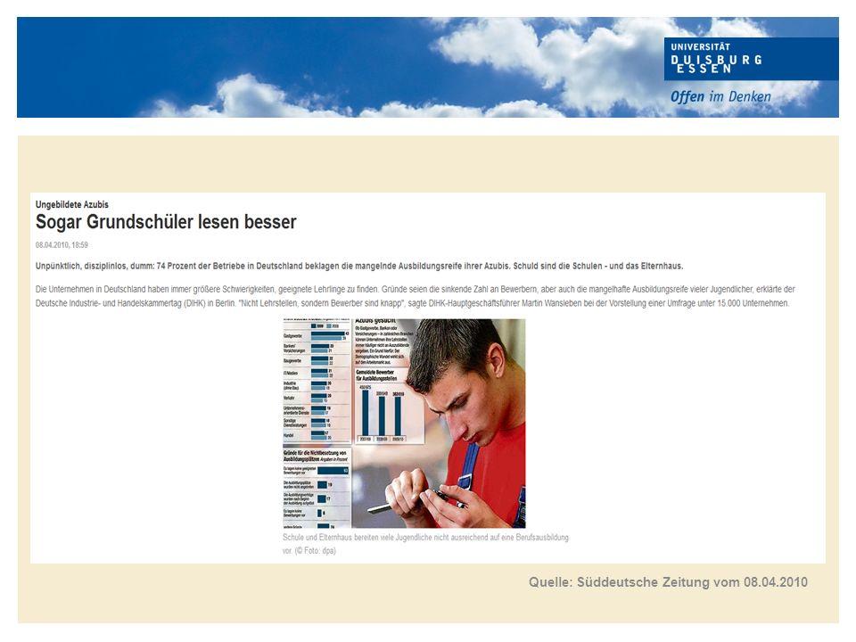 Titelmasterformat durch Klicken bearbeiten Mängel bei schulischen Grundkenntnissen Quelle: DIHK 2012, S.