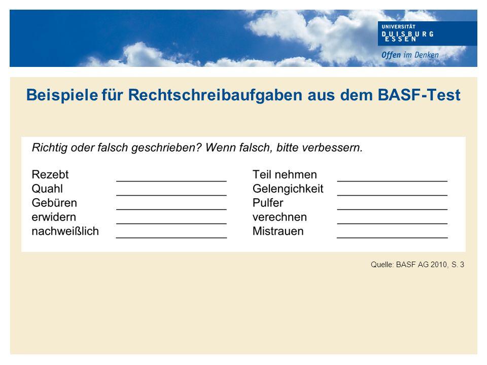 Titelmasterformat durch Klicken bearbeiten Ergebnisse des BASF-Rechenschreibtests 1975-2010 Quelle: BASF AG 2010, S.