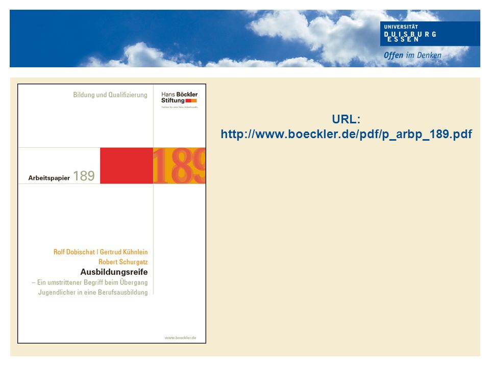 """1.Einführung: Die Diskussion um """"Ausbildungsreife 2.Forschungsstand 2.1 Die Ausbildungsumfrage des DIHK 2.2 Der Eignungstest der BASF AG 2.3 Fazit zum Forschungsstand 3."""