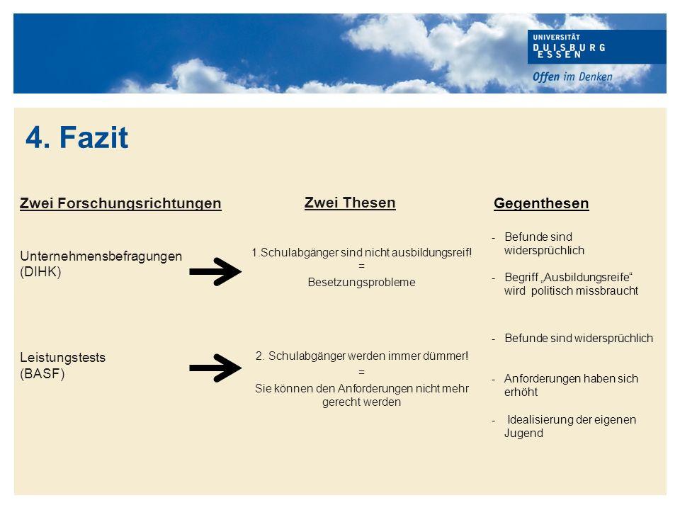 Titelmasterformat durch Klicken bearbeiten BASF AG (2010): Langzeitstudie über Rechtschreib- und elementare Rechenkenntnisse bei Ausbildungsplatzbewerbern.