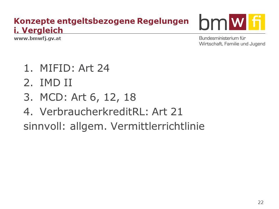 www.bmwfj.gv.at Konzepte entgeltsbezogene Regelungen i.