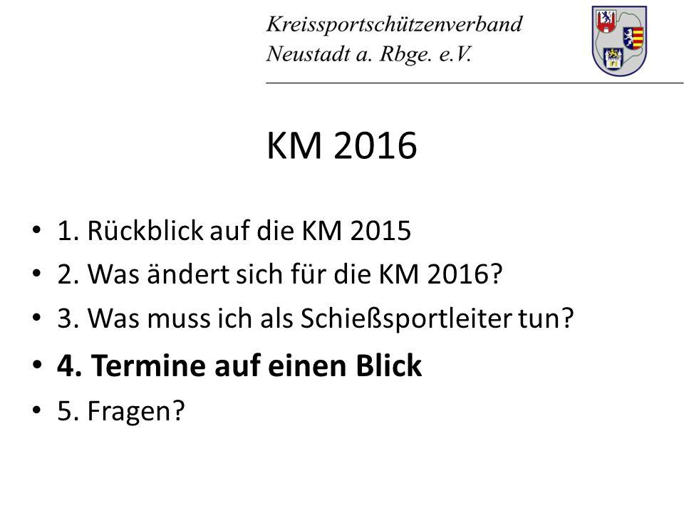 KM 2016 1. Rückblick auf die KM 2015 2. Was ändert sich für die KM 2016.