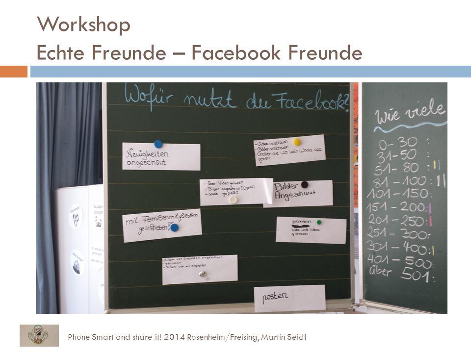 Workshop Echte Freunde – Facebook Freunde Phone Smart and share it.