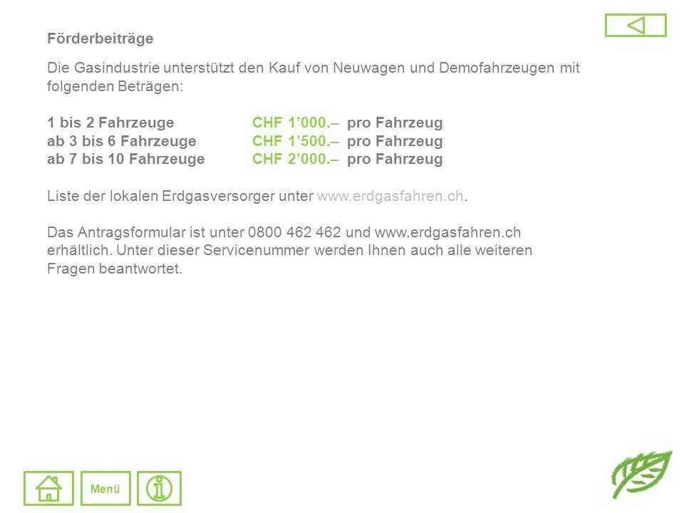 Vergünstigungen Fahrzeugsteuer Quelle: BFE, Bundesamt für Energie.
