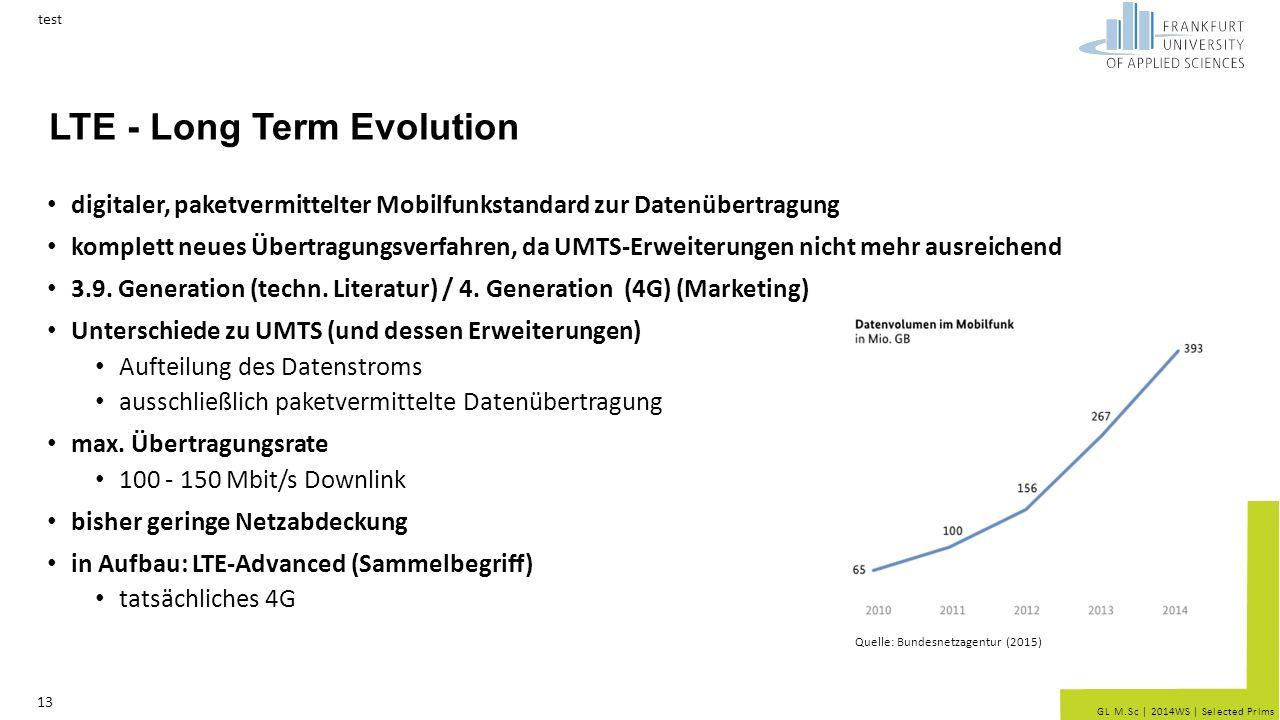 GL M.Sc   2014WS   Selected Prlms LTE - Long Term Evolution digitaler, paketvermittelter Mobilfunkstandard zur Datenübertragung komplett neues Übertra