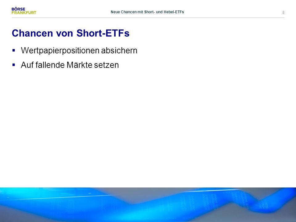 8 Chancen von Short-ETFs  Wertpapierpositionen absichern  Auf fallende Märkte setzen Neue Chancen mit Short- und Hebel-ETFs