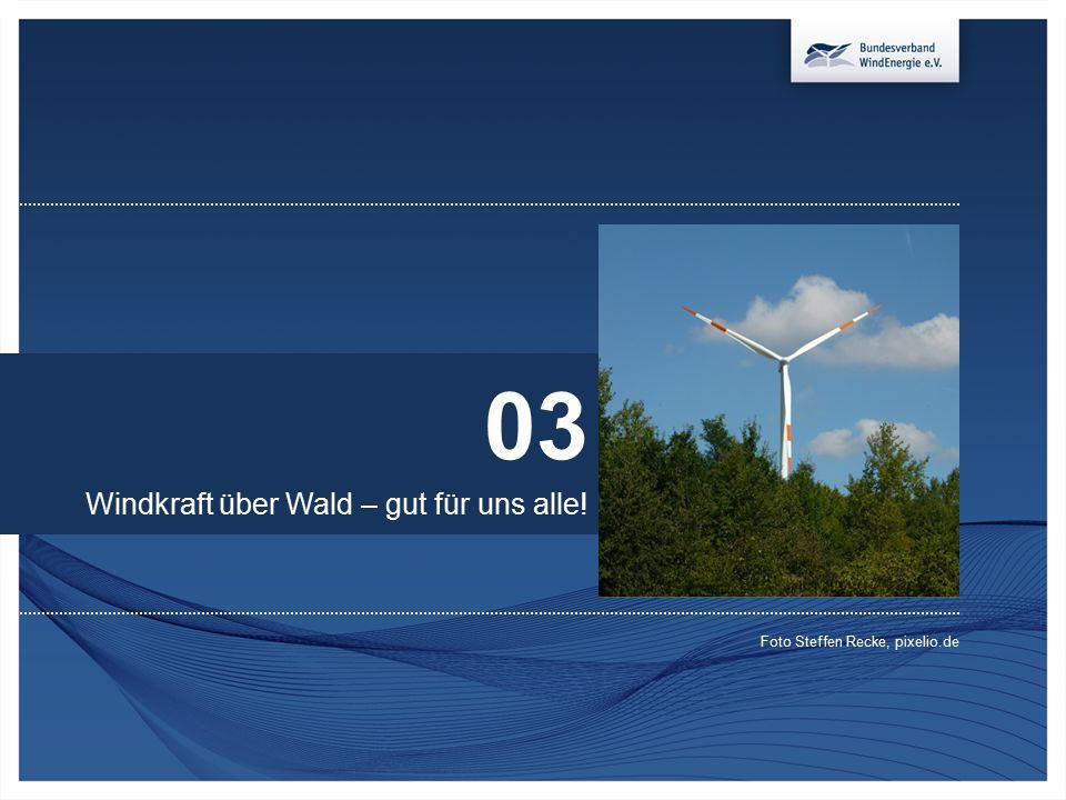 03 Windkraft über Wald – gut für uns alle! Foto Steffen Recke, pixelio.de