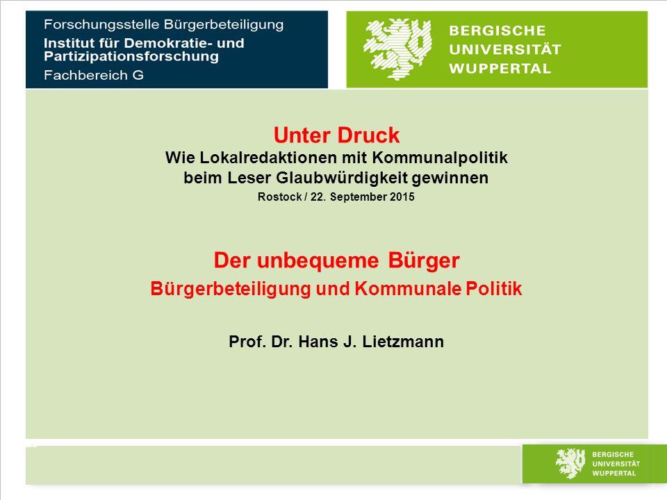 Dies ist ein Mustertitel Prof.Dr. Maria Mustermann 2 von 23 Bürgerbeteiligung Prof.