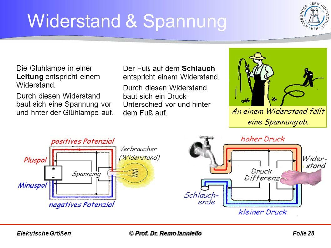 Aufgabe Widerstand und Spannung © Prof.Dr.