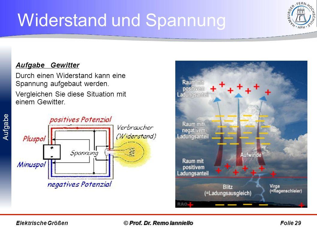 Potenziale im Schaltkreis © Prof.Dr.