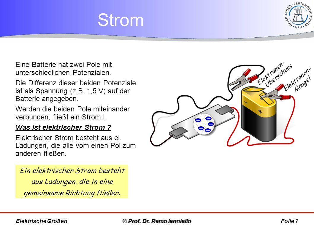 Stromrichtung © Prof.Dr.