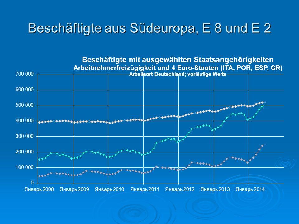 E8: Alle Beschäftigten/ sozialversicherungs- pflichtig Beschäftigte in Deutschland