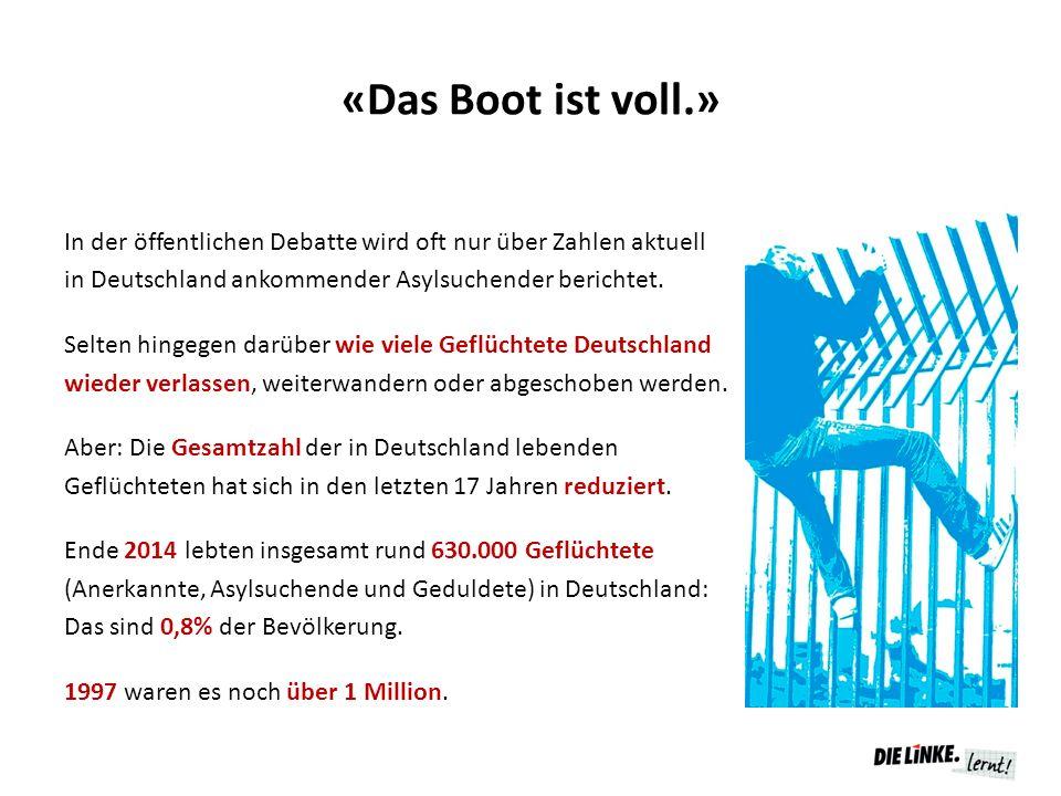 «Das Boot ist voll.» In der öffentlichen Debatte wird oft nur über Zahlen aktuell in Deutschland ankommender Asylsuchender berichtet. Selten hingegen