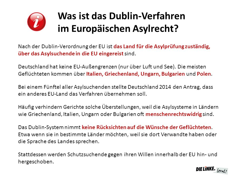 Was ist das Dublin-Verfahren im Europäischen Asylrecht.