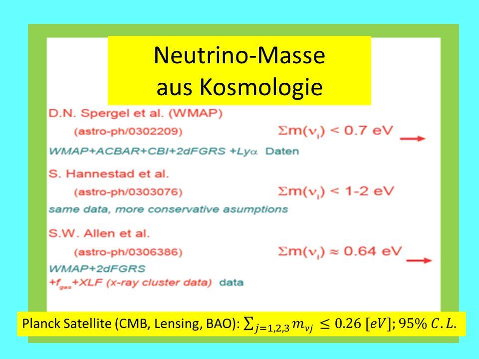 Neutrino-Masse aus Kosmologie