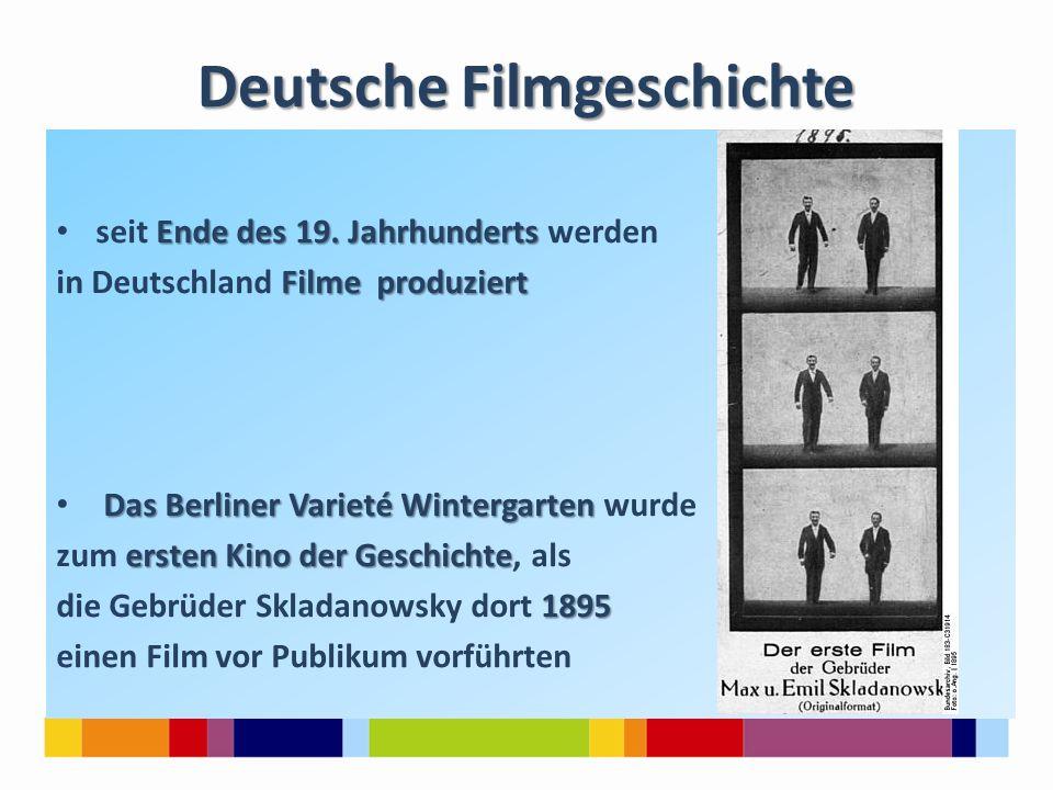 Ende des 19. Jahrhunderts seit Ende des 19. Jahrhunderts werden Filme produziert in Deutschland Filme produziert Das Berliner Varieté Wintergarten Das