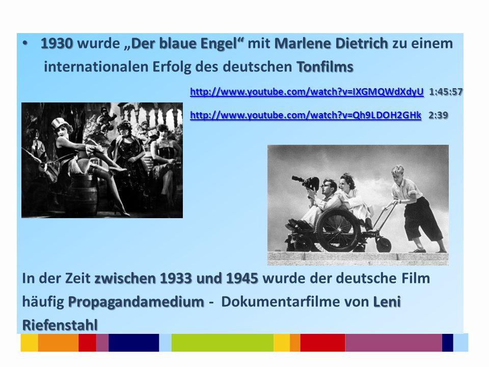 """1930Der blaue Engel"""" Marlene Dietrich 1930 wurde """"Der blaue Engel"""" mit Marlene Dietrich zu einem Tonfilms internationalen Erfolg des deutschen Tonfilm"""
