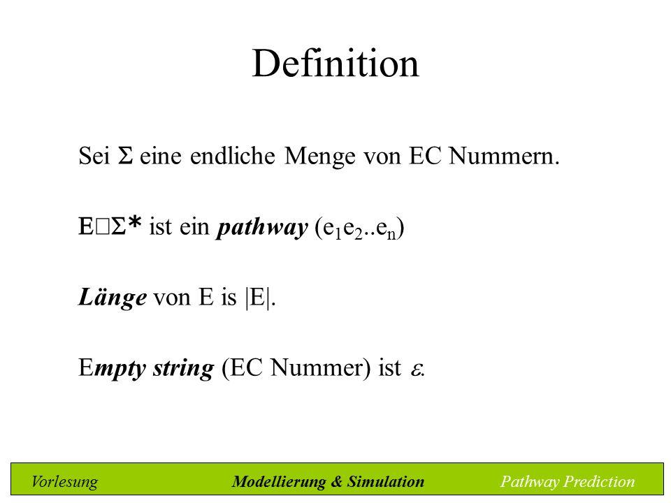 Definition Sei  eine endliche Menge von EC Nummern.