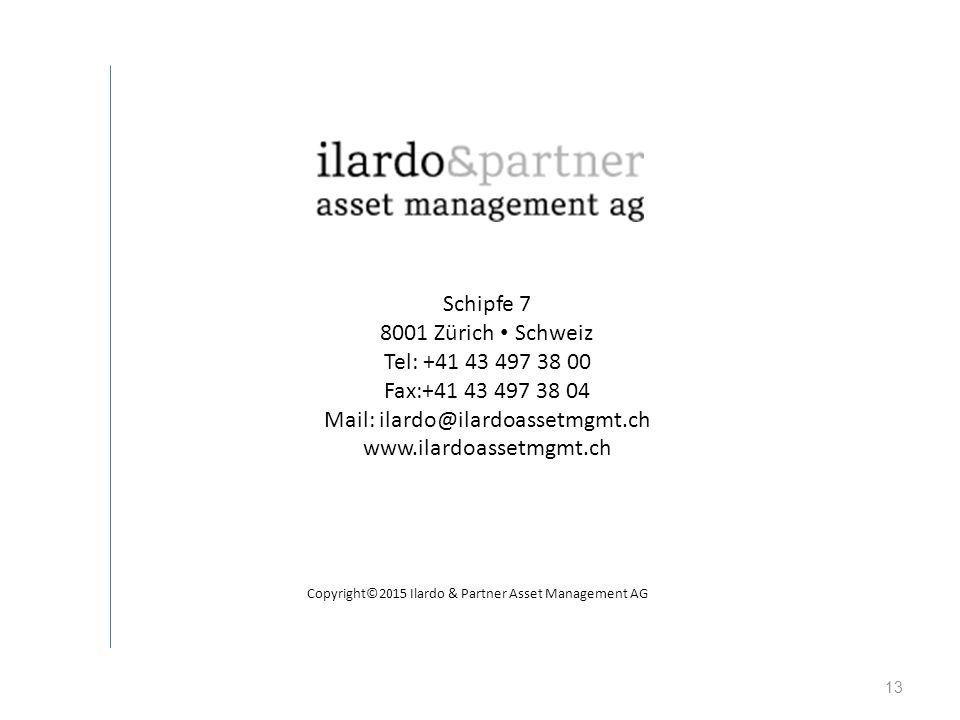 13 Schipfe 7 8001 Zürich Schweiz Tel: +41 43 497 38 00 Fax:+41 43 497 38 04 Mail: ilardo@ilardoassetmgmt.ch www.ilardoassetmgmt.ch Copyright©2015 Ilar