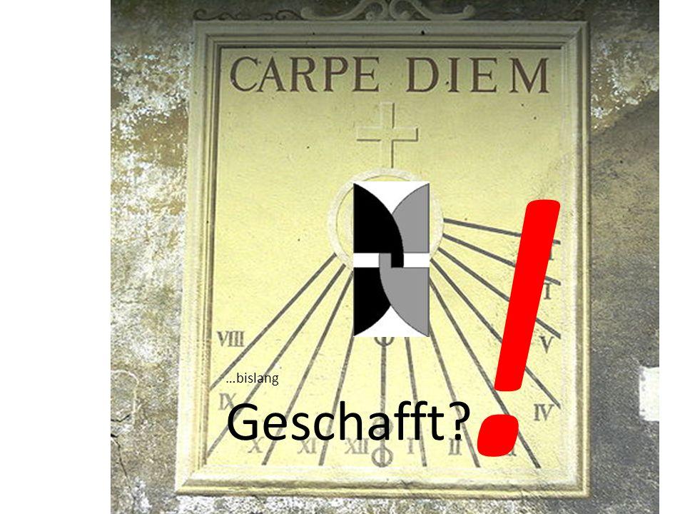 Carpe Diem. stammt aus der Schlusszeile des um 23 v.