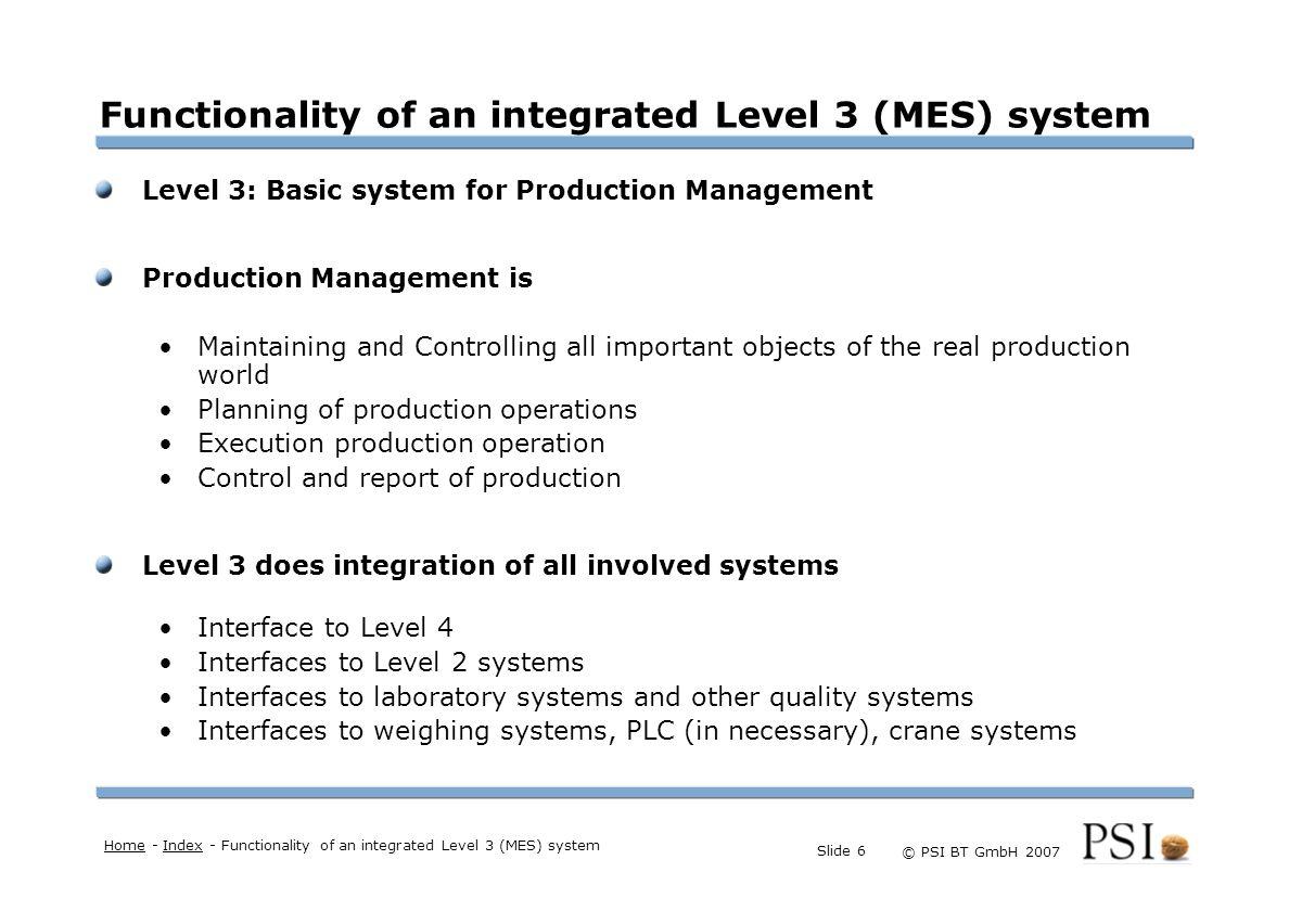 Farben Buttons der Geschäftsgebiete Linienstärken 1 Punkt Städtebutton © PSI BT GmbH 2007 Slide 7 Production management: Maintaining Objects Heart of the Production Management: Factory Model.