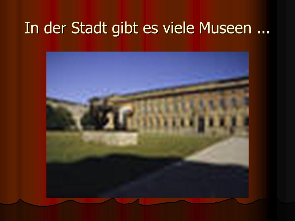 In der Stadt gibt es viele Museen...