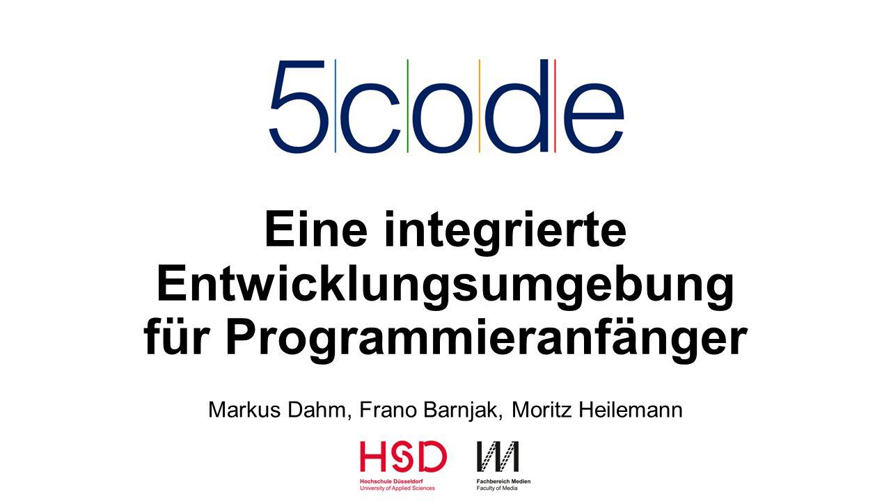 Problemstellung Bestehende Angebote Didaktisches Konzept 5 Schritte 5Code – Delfi 2015 – Dahm, Barnjak, Heilemann 2 Agenda 5Code als IDE für dieses Konzept Features und Nutzung Implementierung Evaluation Fazit und Ausblick