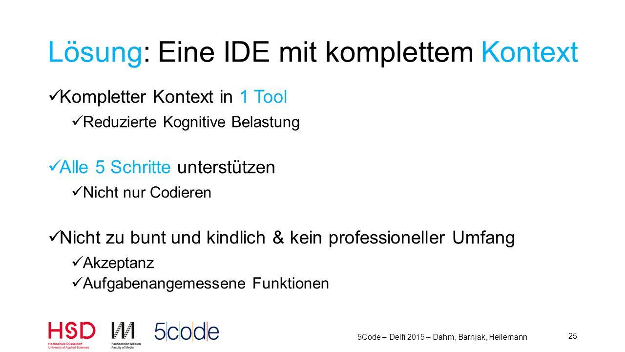 5Code – Delfi 2015 – Dahm, Barnjak, Heilemann 26 5 Schritte - Anordnen L esen V erstehen Ü berlegen A ufschreiben C odieren