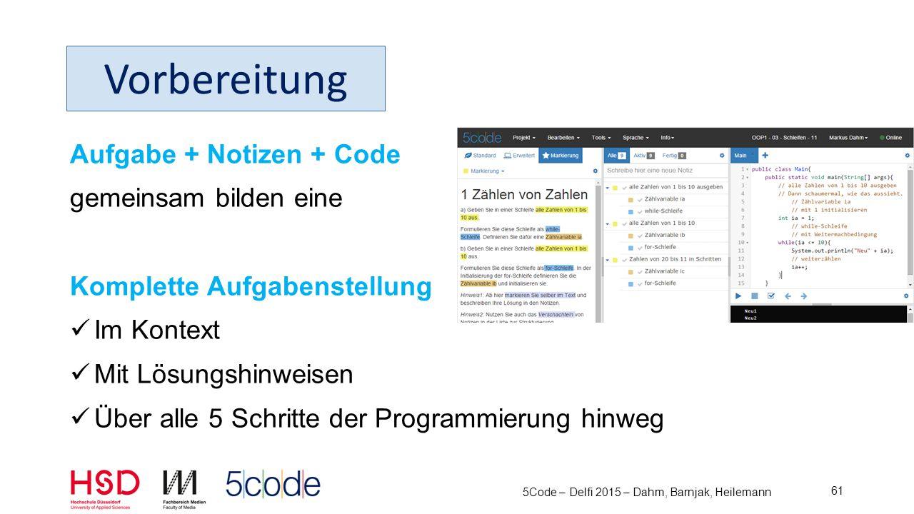 5Code – Delfi 2015 – Dahm, Barnjak, Heilemann 62 Administration