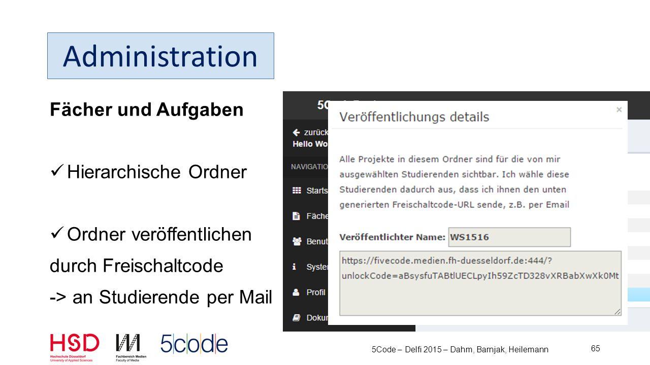 Benutzer Erstellen Verwalten Manuell CSV Import 5Code – Delfi 2015 – Dahm, Barnjak, Heilemann 66 Administration