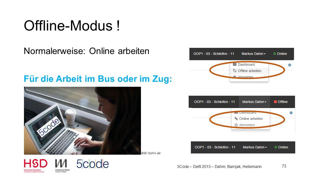 5Code – Delfi 2015 – Dahm, Barnjak, Heilemann 74 Evaluation